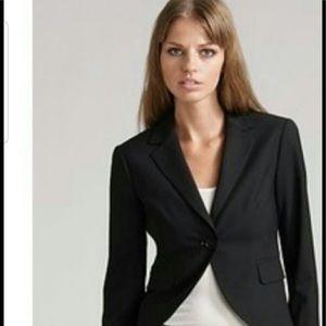 Theory black tweed blazer
